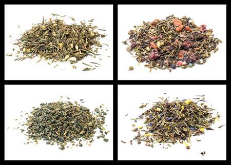 sencha: details of various tea  Bedouin tea, sweet sunset, sencha berries, sencha lemon and ginger