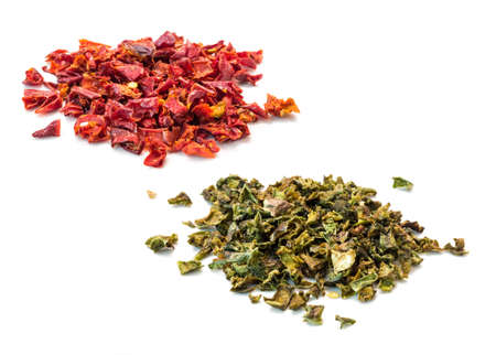 red and green paprika flakes of Mongolia