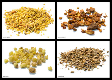 siam: Incense and benzoin of Siam, sandalwood and tear Christs Stock Photo