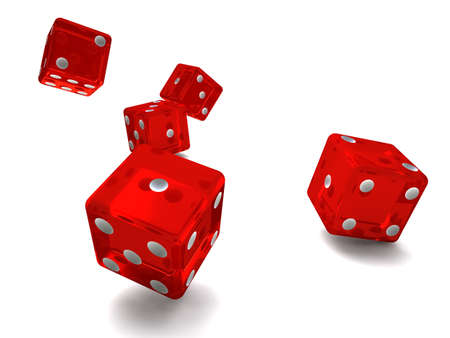 lucky roll of the dice red photo