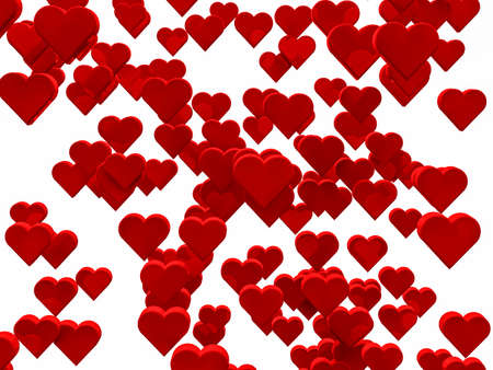 1000 red hearts background for Valentine