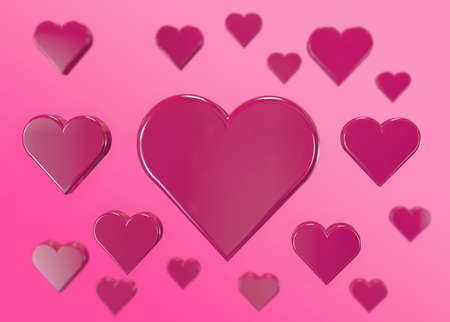 background of pink hearts for valentine