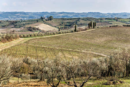 Panoramas of the Tuscan hills in autumn