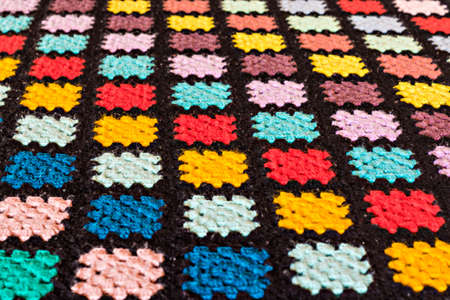 Patchwork covered in handmade