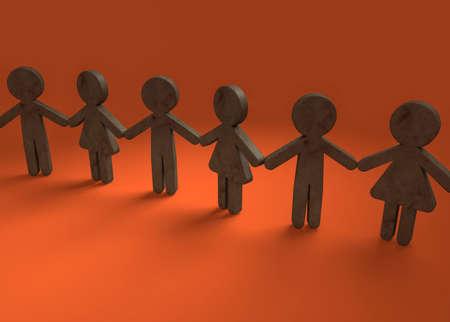 Chain of solidarity between friends