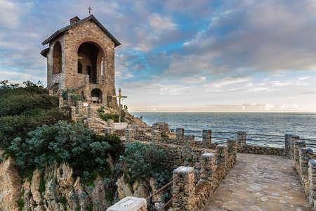 Chapel Stella Maris, the war memorial at sea - Alassio Italy Stock Photo