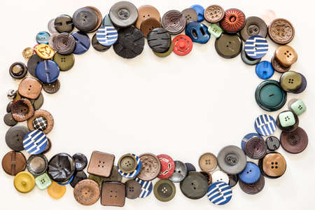 frame of colorful buttons