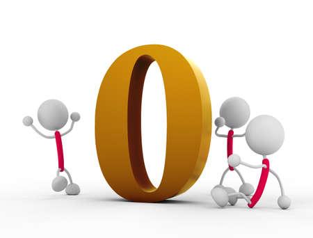 numerical value: zero Stock Photo