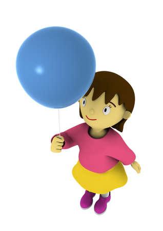 Kid holding balloon