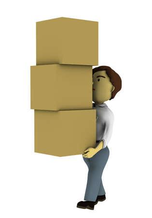 Carry cardboard illustrations