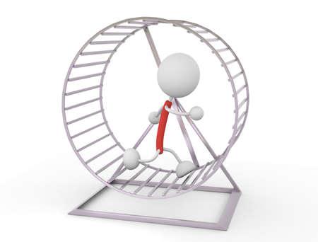 Hamster Wheel illustrations Standard-Bild - 114057398