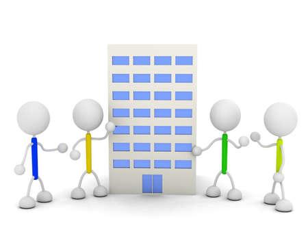 Company Illustrations Stock fotó