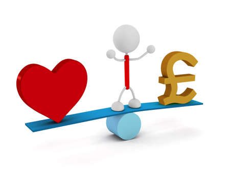 Money and Heart Imagens