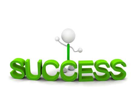 Success 3d illustration 写真素材 - 103605981