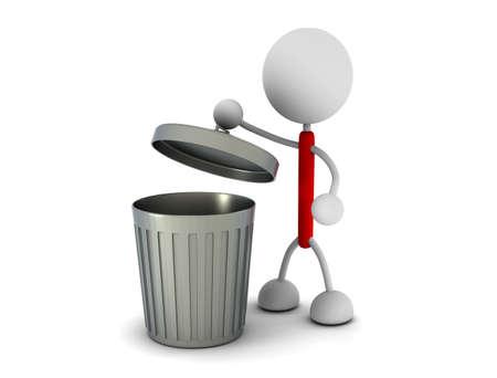 Garbage can Stok Fotoğraf