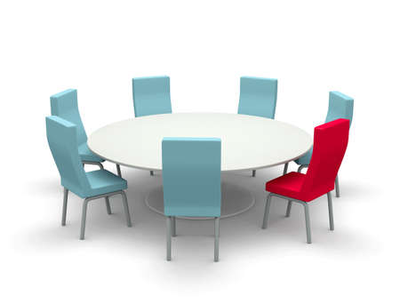 Table with chairs Stockfoto