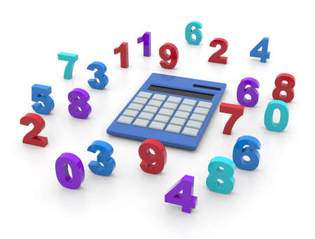 Calculator and numbers Imagens