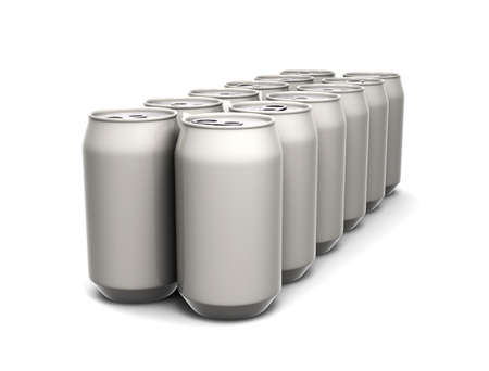 Aluminum cans Imagens