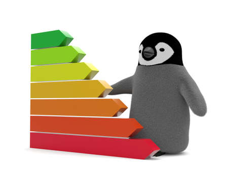 Business graph and penguin