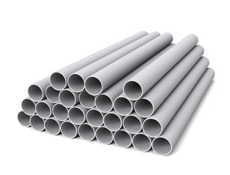 Steel pipes Imagens