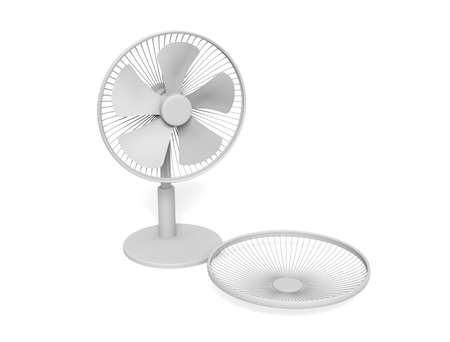 Electric Fan on white background Imagens - 126274009