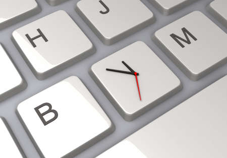 Keyboard with Time Management Imagens - 126274012