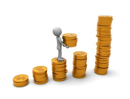 Climb a pile of coins