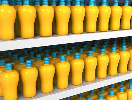 Plastic Bottle pump Imagens