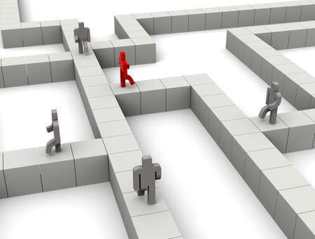 Go through the maze