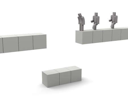 broken cube bridge Imagens