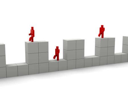 Walk the bumpy cube