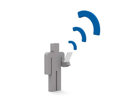 Communication on smartphone Imagens