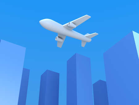 Airplane and building