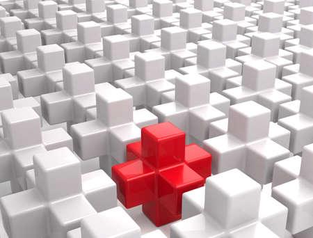 Unique cube Stock fotó
