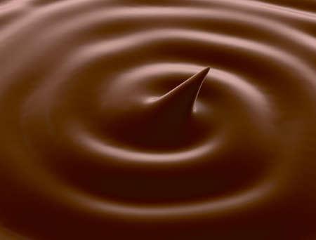 Chocolate swirl background Imagens