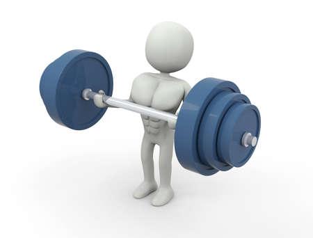 Weight training Imagens