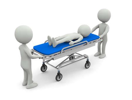 Civière d'hôpital