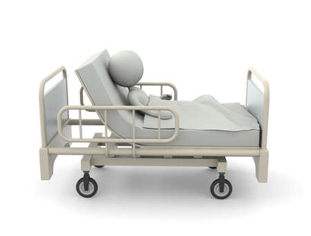 Bett im Krankenhaus
