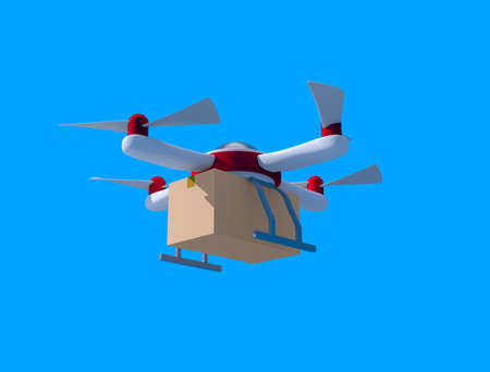 Delivery drone flying 写真素材