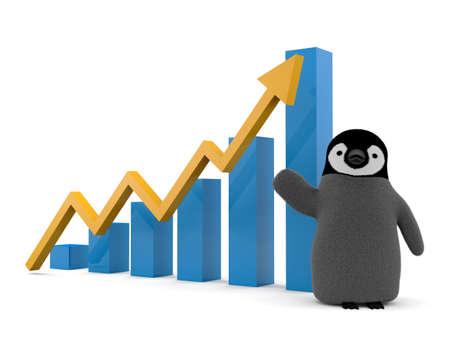 Business graph bar chart