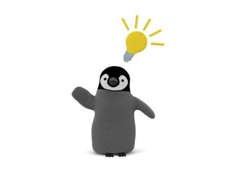 Penguin concept Idea 写真素材