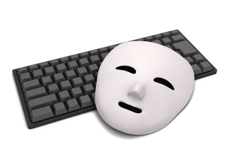Keyboard and mask 写真素材