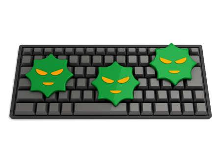 Keyboard and computer virus 写真素材