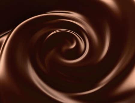 Chocolate swirl background Stock Photo