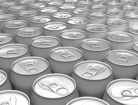 Aluminum cans background