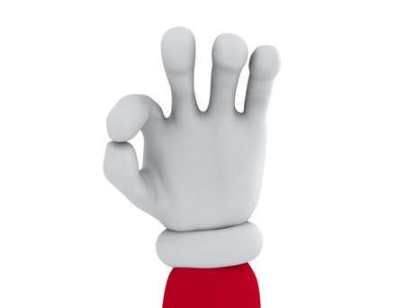 Hand OK sign Stock Photo