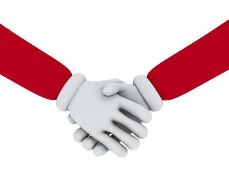 Handshake with white gloves
