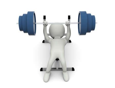 Weight training 写真素材