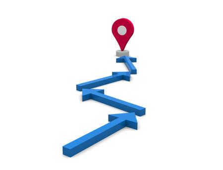 Map pointer icon.3D illustration