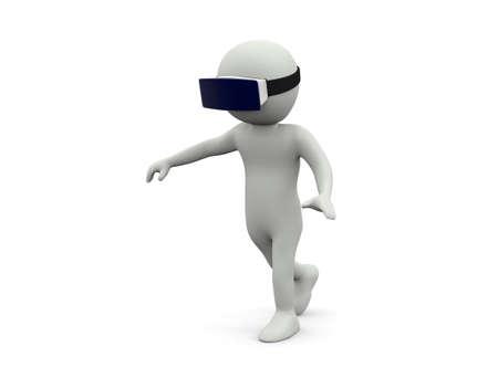 VR virtual reality glasses on white